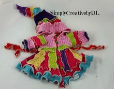 Upcycled Rainbow Sweater Coat for your dolly :)