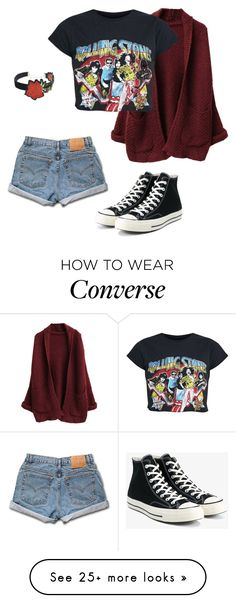 """""""What The Tired Kids Die In"""" by e-c-a-17 on Polyvore featuring Levi's, Converse and WithChic"""