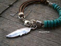 Rustic Turquoise Leather Bracelet