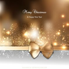 Brown Holiday Greeting Card Background with Bow Free Christmas Backgrounds, Free Vector Backgrounds, Christmas Background Vector, Free Vector Art, Merry Christmas And Happy New Year, Merry Xmas, Bow Vector, Happy New Year Design, Holiday Greeting Cards