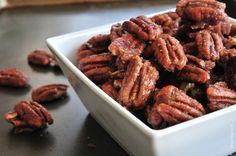 Skillet Cinnamon Pecans make a delicious nibble to serve when entertaining and make a scrumptious homemade gift. So quick and easy, this cinnamon pecans reci. Cinnamon Pecans, Spiced Pecans, Ground Cinnamon, Candied Pecans, Glazed Pecans, Almonds, Pecan Recipes, Cooking Recipes, Scone Recipes