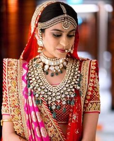 Sabyasachi Dresses Online on Happy Shappy. Browse great collection and images of beautiful and best Sabyasachi dress. Indian Bridal Lehenga, Indian Bridal Wear, Indian Wedding Jewelry, Bridal Jewellery, Indian Weddings, Bridal Sarees, Indian Jewelry, Fancy Jewellery, Jewellery Designs