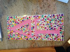 Delta Gamma bedazzled board- absolutely love this
