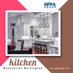 NFPA Construction Group offer kitchen renovations in Burlington and surrounding areas. Our kitchen experts can professionally design and renovate your existing kitchen according you. Contact us today at Kitchen Renovations, Kitchen Remodel, Construction Group, Open Concept, Cool Kitchens, Countertops, Design, Vanity Tops, Kitchen Redo