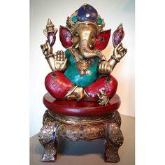 Ganesha beeld brons stonework topstuk