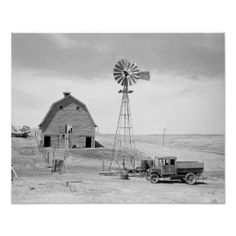 A North Dakota farm that was abandoned during the era of the Dust Bowl drought. Old Pictures, Old Photos, Vintage Photos, Farm Pictures, North Dakota, Champs, Old Windmills, Dust Bowl, Antique Trucks