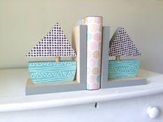 Sujetalibros de velero decoración náutica niños por MapleShadeKids