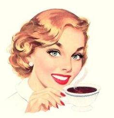 Coffee break, ca. 1950s.