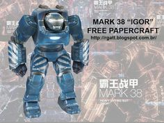 "RGatt Personal Work and Tests: IRON MAN 3 MARK 38 ""IGOR"" PAPERCRAFT"
