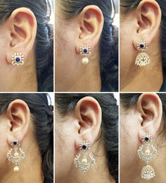 Diamond Earrings / Jhumkis / Bali - Diamond Jewelry Diamond Earrings / Jhumkis / Bali (FER0147A65) at USD 4,286.96