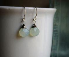 Aqua Chelcedony Earrings