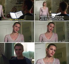 """#Riverdale #2x15 #Betty #Chic """"So, who are you?"""" Not Hal's son, that's for sure"""