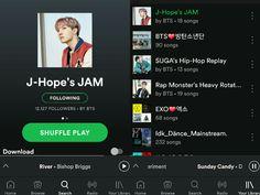 J-Hope made a SPOTIFY playlist! Go follow 'J-Hope's JAM' on BTS' account~ ❤ #BTS #방탄소년단
