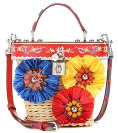 Dolce & Gabbana - Secchiello Dolce Beauty in midollino e pelle con decorazione | mytheresa.com