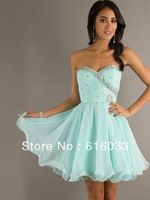 2014 fashion in stock A-line Sweetheart Tulle Short Rhinestones ...