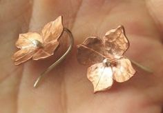 Earrings - Copper Blooms - Handcut - Made to Order