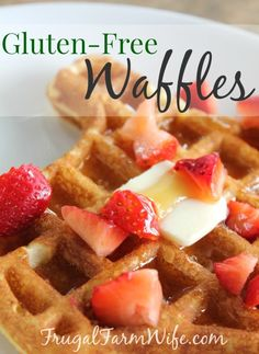 Gluten-Free Waffle recipe. Waffles are easy enough to make, but these are the best baking powder waffle ever!