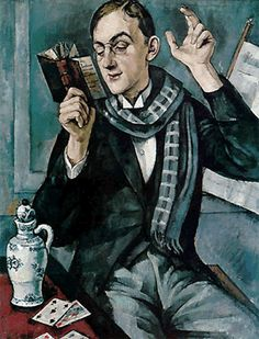 Kramsztyk, Roman (1885-1942) - 1919 Portrait of the Poet Jan Lechon (National Museum, Krakow, Poland)