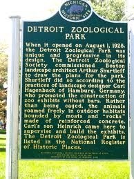 Historical Marker Detroit Zoo Detroit Zoo, Detroit Rock City, Detroit Area, Michigan Travel, State Of Michigan, Detroit Michigan, Macomb County, Detroit History, The Mitten State