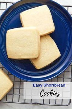 Easy Shortbread Cookie Recipe, Chocolate Chip Shortbread Cookies, Shortbread Recipes, Buttery Cookies, Holiday Cookie Recipes, Easy Cookie Recipes, Sweet Recipes, Toblerone, Panera Bread