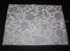 Ralph Lauren New Designer Cloth 4 PLACEMATS Pineview Silver Floral NWT 14x19  #RalphLauren