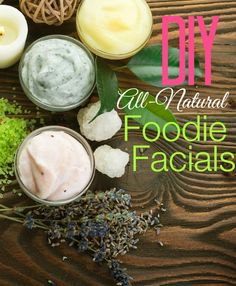 Skip the pricey spa for the latest in beauty treatments. Just open your fridge and create these DIY food facials! #beauty #DIY #facial #foodie #allnatural