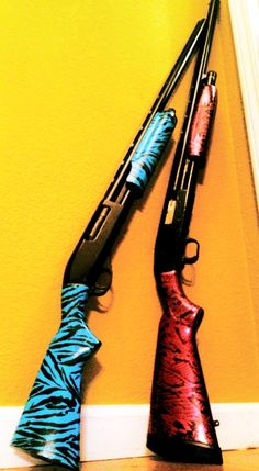 Pistols & Pearls new shotguns for skeet shootin, want the teal one!!!