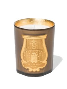 Cire Trudon Gaspard Candle: The Cire Trudon Gaspard Candle has a fragrance where mandarin meets intense Mysore sandalwood. An olfactory nod to Gaspard, the Magi king from India in his splendid orange costume with its shimmery reflections. Top notes with a blackcurrant and bourbon fragrance followed by heart notes in jasmine, rose, and tangerine and finally with a base note of bitter orange tree, bourbon vanilla, mysore, and sandalwood.   Christmas special gold glass Packaged in a black…