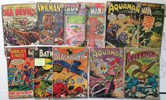DC Comics - Silver Age 1960s 11 Comic Book Lot - 12¢ 15¢ Batman Aquaman Flash JLA Blackhawk Hawkman