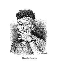 Woody Guthrie, by Robert Crumb