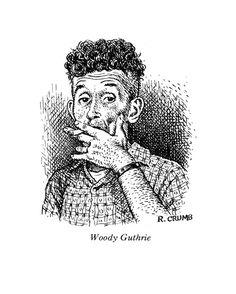 Woody Guthrie, by Robert Crumb