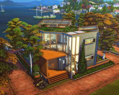 Sims 4 House Plans, Sims 4 House Building, Sims Four, Sims 3, Sims 4 House Design, Casas The Sims 4, The Sims 4 Download, Sims 4 Build, The Sims4