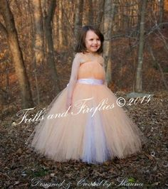 White and Peach Flowergirl Dress with Flower Sash, with or without Sleeves - Great for Flower Girl, Party Dress, Sizes Newborn up to Size 8