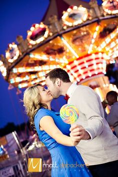 Awesome carnival engagement pic