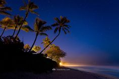 Sean Davey fine art adventure Photography.   -   Early morning stars on the north shore of Oahu, Hawaii