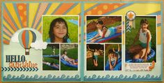 Gallery Projects - Scrapbooking - Traditional - 2 Page Layout - Two Peas in a Bucket