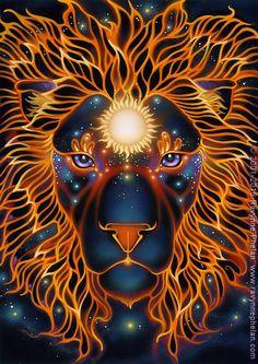 Ravynne Phelan - Dreams of Gaia Tarot and Fantasy Art Leo Lion, Ascendant Lion, Lion Wallpaper, Leo Season, Fractal, Lion Pictures, Lion Art, Zodiac Art, Canvas Paintings