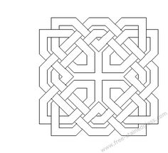 Celtic mosaic coloring pages ~ Free Coloring/Painting Pages: 2 Geometric Designs ...