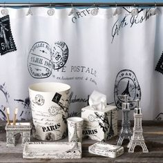 Find This Pin And More On French Colonial Bathroom Paris Shower Curtain And Accessories