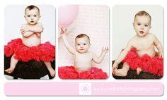 First birthday photos! tutus and balloons!