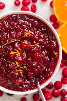 Cranberry sauce with orange, cinnamon and honey. There's no match for homemade cranberry sauce! Cranberry relish bursting with real juicy cranberries.