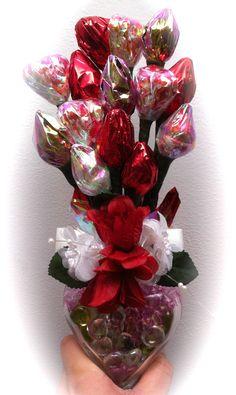 valentine candy bouquet