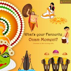 #ContestAlert: Is it the joy of eating Onam Sadhya or decorating the Pookalam? Selfie with Set Mundu or spending time with relatives? Comment your favourite #OnamMonments with #Jewlot to win exciting gifts this #Onam.