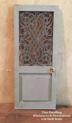 Miniature Wall Screen Dollhouse Architectural Door Dollhouse
