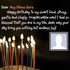 No need to buy cake or card for your boyfriend. Celebrate boyfriend birthday in a romantic way now. Get special birthday wishes for boyfriend with name and photo. Birthday Wishes For Love, Happy Birthday Love Quotes, Happy Birthday Text, Happy Birthday Wishes Images, Birthday Quotes For Best Friend, Birthday Ideas, Birthday Cake Messages, Birthday Messages For Sister, Birthday Letters To Boyfriend
