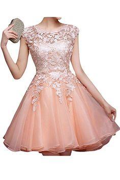 Amazon | (ウィーン ブライド) Vienna Bride ドレス カクテルドレス パーティードレス ワンピース フォーマルドレス ブライダル レディース ショートドレス ミニ丈 Aライン ラウンドネック 透け感 6色 レース | ワンピース・チュニック 通販