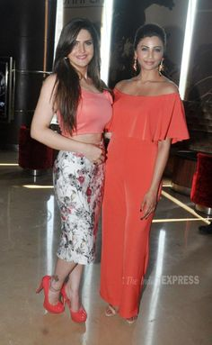 Zareen (Zarine) Khan and Daisy Shah at the trailer launch of 'Hate Story 3'. #Bollywood #Fashion #Style #Beauty #Sexy #Hot