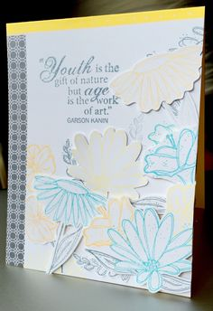 Handmade floral birthday card.  Pretty layering, perfect for spring or summer!