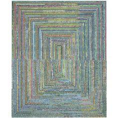 Safavieh Handmade Nantucket Teal Cotton Rug (8' x 10') - Overstock Shopping - Great Deals on Safavieh 7x9 - 10x14 Rugs