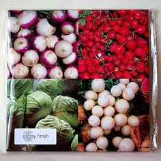 Farmer's market ceramic tile trivet harvest by RVJamesDesigns